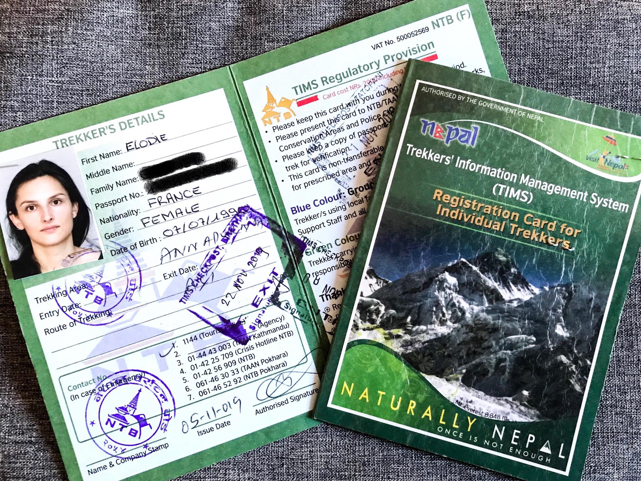 passeport nepal